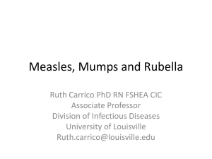 Measles, Mumps and Rubella