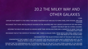 20.2 The Milky Way and Other Galaxies