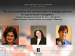The role of incentives and communication in strategic alliances: An