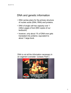 DNA and genetic information