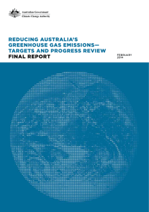 reducing australia`s greenhouse gas emissions— targets and