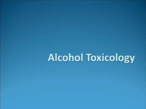 Alcohol Toxicology