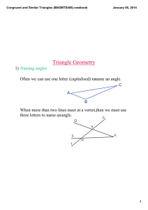 Congruent and Similar Triangles (MASMTS408).notebook