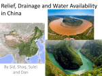 Relief, Drainage and Water Availability in China