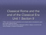Chapter 4-5 Classical Greece and Rome AP World History, Mr. Cofield