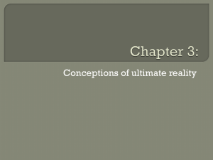 Chapter 3: Conceptions of ultimate reality