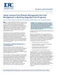Using Lessons from Disease Management and Care Management