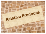 E. RELATIVE PRONOUNS