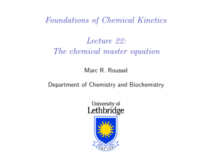 The chemical master equation