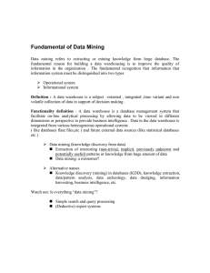 Fundamental of Data Mining