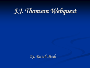 JJ Thompson Webquest