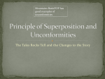 Principle of Superposition and Unconformities