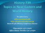 History 738 Comparative Frontiers in World History
