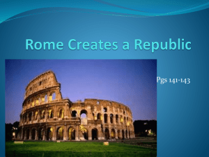 File rome creates a republic