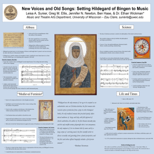 New Voices and Old Songs: Setting Hildegard of Bingen to Music