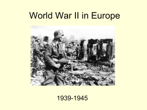 World War II in Europe