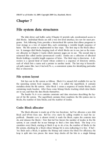 Chapter 7 File system data structures