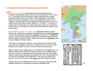 4. The Spread of Chinese Civilization: Korea and Vietnam