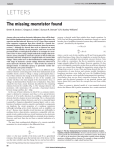 The Missing Memristor Found