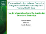 Australian Bureau of Statistics: Health Information - Louise