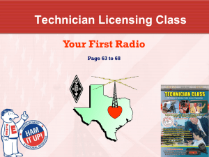 Amateur Radio Technician Class Element 2 Course