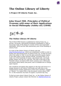 Online Library of Liberty: Principles of Political Economy with some