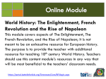 World History: The Enlightenment, French Revolution and the Rise
