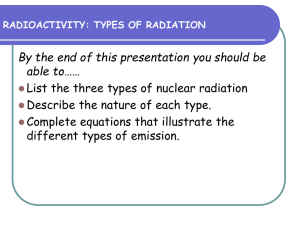 radioactivity: types of radiation