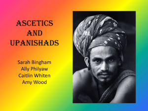 Ascetics and Upanishads - Comparative