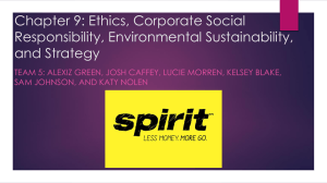 Chapter 9: Ethics, Corporate Social Responsibility, Environmental
