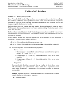 Problem Set 2 Solutions - Massachusetts Institute of Technology