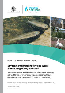 Environmental Watering for Food Webs in The Living Murray Icon Sites