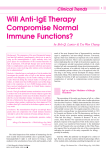 Will Anti-IgE Therapy Compromise Normal Immune