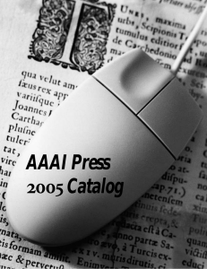 AAAI Press Catalog - Association for the Advancement of Artificial