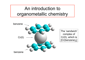 An introduction to organometallic chemistry
