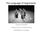 The Language of Arguments