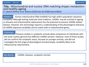 Title: Genetics: Mitochondrial DNA in evolution and disease Douglas