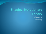 Shaping Evolutionary Theory - Biology-RHS