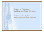 County of Tuolumne Building and Safety Division and TCBI Joint