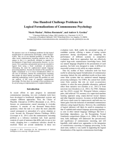 One Hundred Challenge Problems for Logical Formalizations of