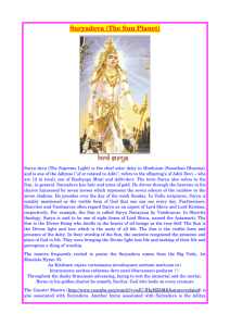 The Sun Planet - Dipika – The Light in your Spiritual Life.