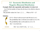 5.5 Geometric Distributions and Negative Binomial Distributions
