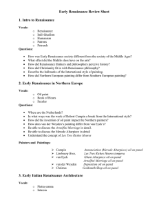 Early Renaissance Review Sheet
