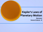 Kepler*s Laws of Planetary Motion