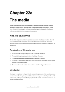 Chapter 22a The media - Pearson Higher Education