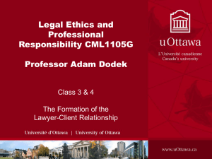 Slide 1 - International Forum on Teaching Legal Ethics and