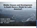 I. Middle Classes and Development in Latin - CoPLAC-GpRD