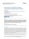 Marketing Accountability: Defining Expectations and Measuring