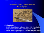 The United States Constitution and Bill of Rights
