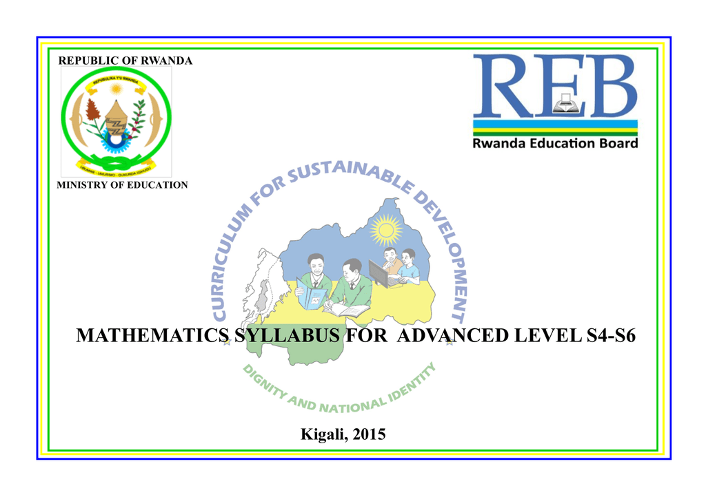 mathematics syllabus for advanced level s4-s6